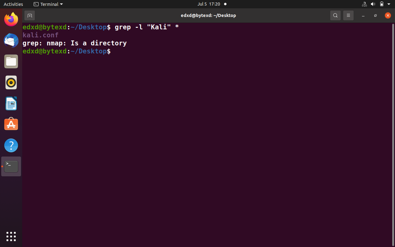 Use Grep to Find All Files Containing a Specific Text (grep -l)